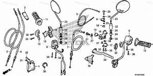 Honda Motorcycle 2008 Oem Parts Diagram For Handle Lever