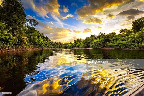 dramatic landscape   river   amazon state