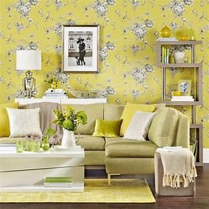 Living room wallpaper – Wallpaper for living room – Grey ...