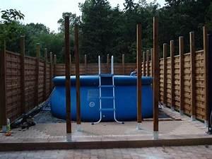 Preparation Terrain Pour Piscine Hors Sol Tubulaire : piscine tubulaire sur terrain en pente rayon braquage ~ Melissatoandfro.com Idées de Décoration
