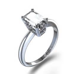 gold emerald cut engagement rings delicate emerald cut engagement ring in palladium