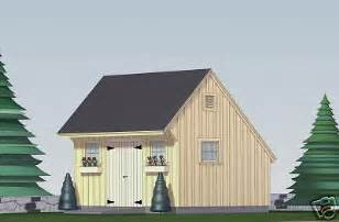 shed plans blueprints 12 ft x 16 ft saltbox style ebay
