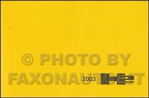 2003 Hummer H2 Repair Shop Manual 2 Volume Set Original