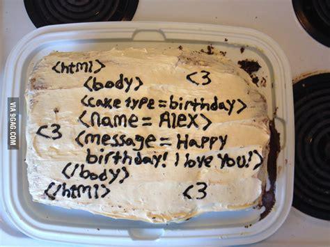 programmer boyfriend  birthday cake gag
