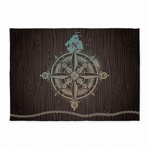 nautical compass 539x739area rug by bestgear With kitchen colors with white cabinets with compass rose outdoor wall art