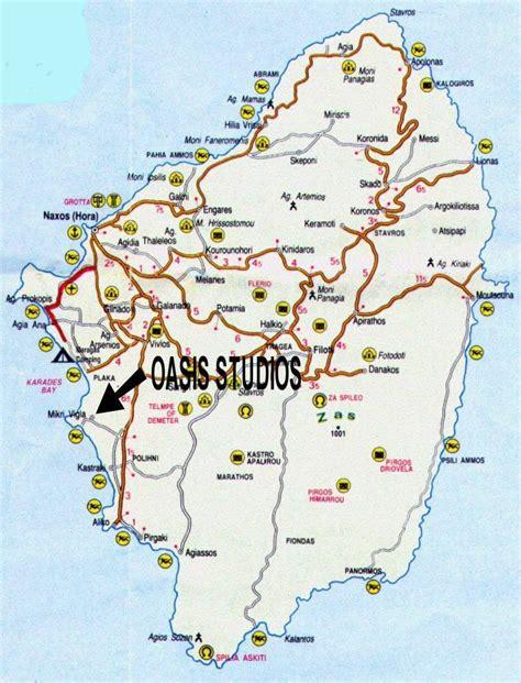 stadtplan von naxos insel detaillierte gedruckte karten