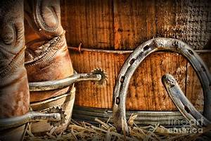 Cowboy Boots And Spurs Photograph by Paul Ward
