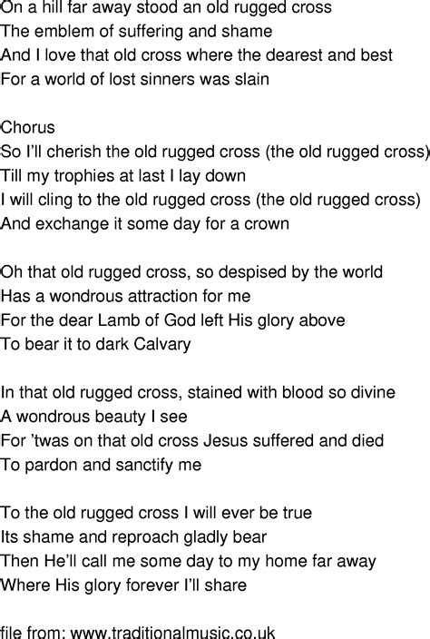 To The Rugged Cross Lyrics by Rugged Cross Song Lyrics Gridlock Episode In Doctor