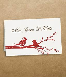 Love birds place cards template download print for Templates for place cards for weddings
