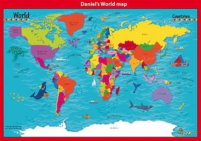 Map Countries Personalised Children Cosmographics Maps Childrens