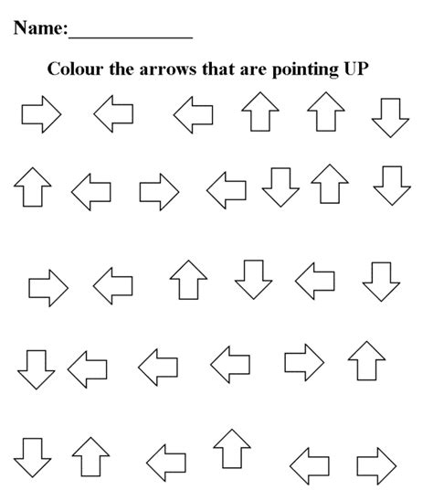 14 best images of up and worksheets visual 774 | up and down worksheets preschool 379042