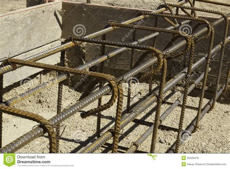 Rebar And Forms Tied For Concrete Stock Photo  Image Of