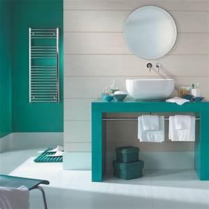 association couleur avec le vert dans salon chambre cuisine With peinture de salle de bain tendance