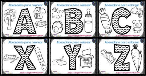abecedario para colorear listo para descargar e imprimir zig zag imagenes educativas