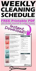 Free 2021 House Cleaning Schedule Template Printable Pdf