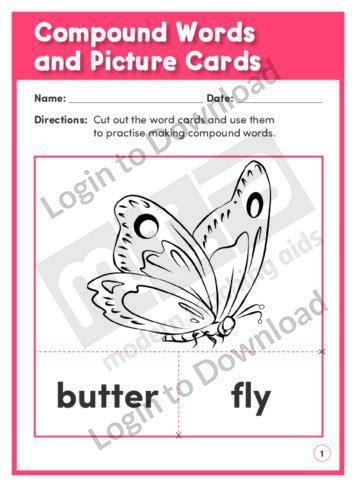 lesson zone au compound words  picture cards