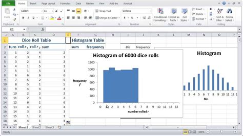 how to make a live histogram in excel