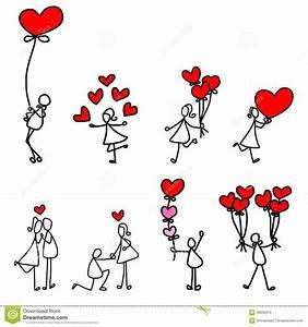 Cartoon hand-drawn love stock illustration. Illustration ...