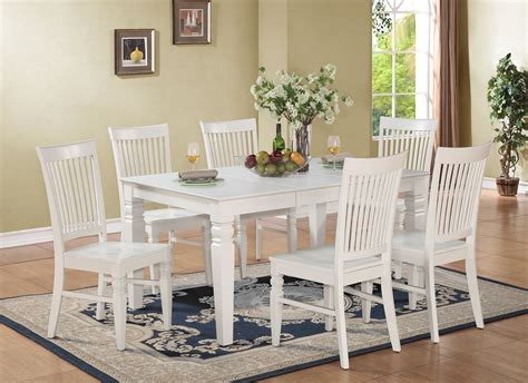 From the dining tables category: 7PC Weston Set Rectangular Dinette Dining Table + 6 Wood ...