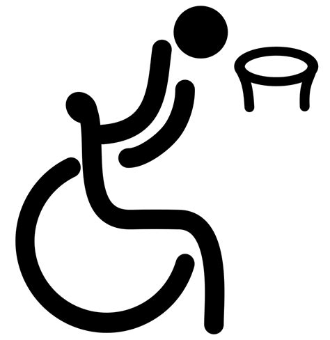 File:Wheelchair basketball - Paralympic pictogram.svg ...