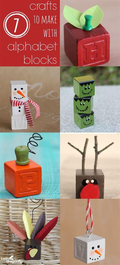 crafts    alphabet blocks christmas