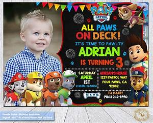 Paw patrol birthday invitationpaw patrol invitationpaw for Paw patrol invitation ideas