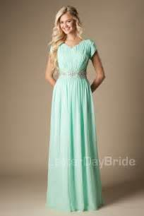 mint chiffon maxi long formal floor length modest