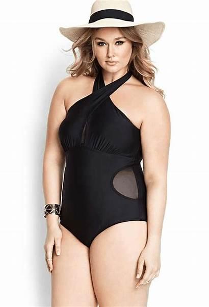 Swimsuit Mesh Plus Swimwear Forever Keyhole Piece