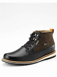 Lacoste Delevan Mens Boots in Brown for Men (black/brown ...