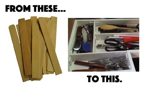 Class Cabinets by Diy Bargain Drawer Organizer Made From Wooden Stir Sticks