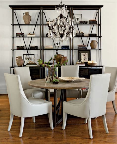Bookcase In Dining Room by Industrial Bookcase Transitional Dining Room