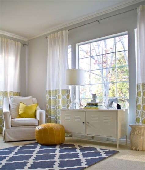 yellow and gray living room contemporary living room
