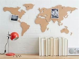 Carte Du Monde Deco Murale : id es originales pour d corer son bureau de travail ~ Dailycaller-alerts.com Idées de Décoration