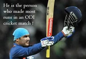 Virender Sehwag broke Sachin's Record of 200 runs in ODI ...