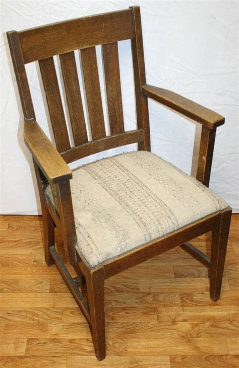 Oak Armchair by Antique Oak Arts And Crafts Mission Dining Armchair