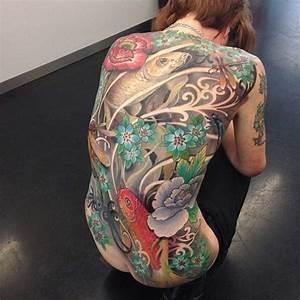 Tatouage Homme Japonais : tatouage de femme tatouage carpe koi japonais sur dos ~ Melissatoandfro.com Idées de Décoration