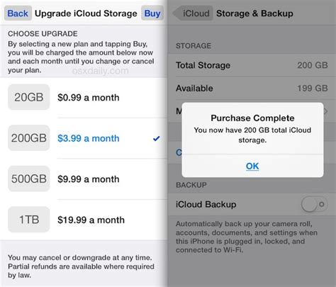 to upgrade iphone storage how to upgrade icloud storage plan