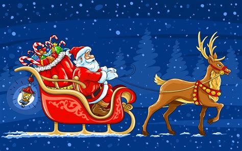 santa claus   big bag  toys christmas night