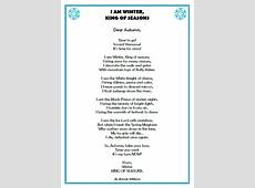 Randal Cremer Primary School Poem of the Month – November