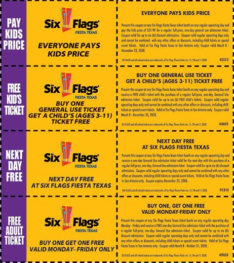 19928 Six Flags Tickets Coupons Discounts how to get a discount on six flags tickets active coupons