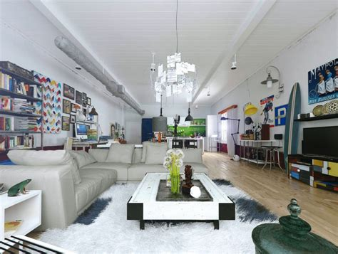 Colorful And Funky Interiors Visualized by Colorful And Funky Interiors Visualized
