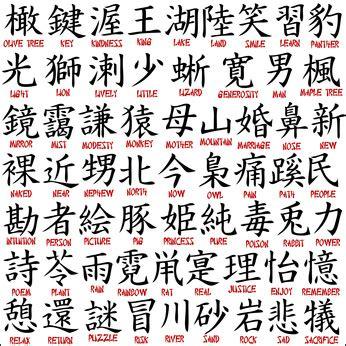 Schriftzeichen  Chinesische Schriftzeichen, Japanische