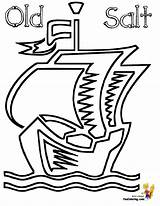 Ship Pirate Coloring Pirates Barquentine Yescoloring Seas sketch template