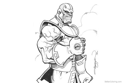 marvel avengers infinity war coloring pages thanos fan art