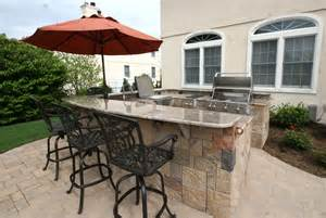 Outdoor Kitchen with Umbrella