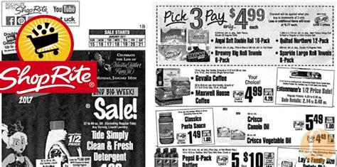 shoprite preview ad   week  living rich