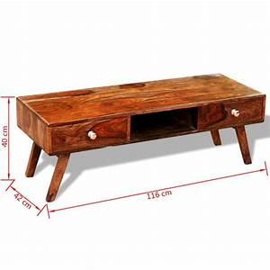 Meuble Vintage En Ligne : la boutique en ligne meuble t l en bois de sheesham avec 2 tiroirs vintage 40 cm ~ Preciouscoupons.com Idées de Décoration