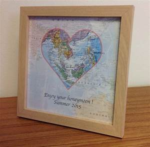 personalised map gift world travels 24 50