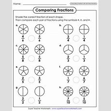 Comparing & Ordering Fractions (worksheets