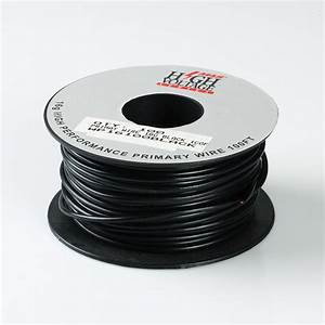 100ft Black Primary Wire 16 Gauge Awg Stranded Copper